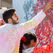 Live  Interactive Calligraphy Performance by Calligrapher Ghaleb Hawila
